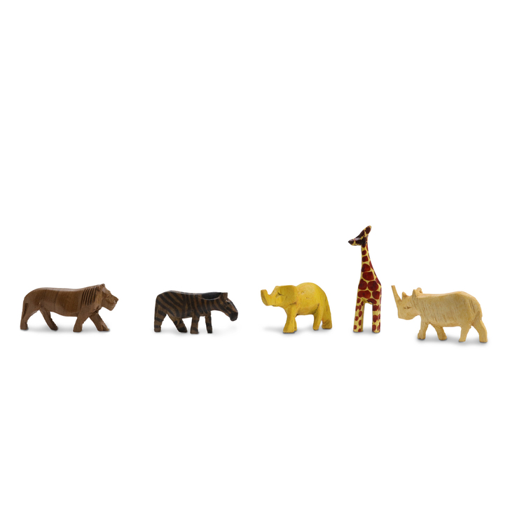 Hand Carved Wooden Safari Animals