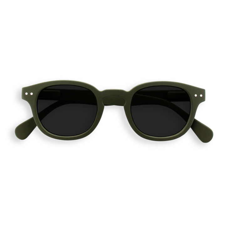 #C Khaki UV Sunglasses