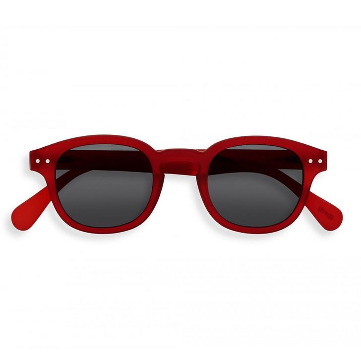 #C Red Crystal UV Sunglasses