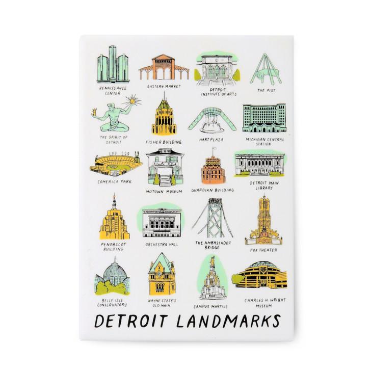 Detroit Landmarks Magnet