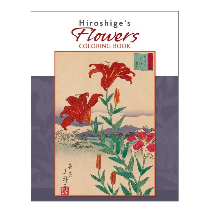 Flowers, Hiroshige Coloring Book