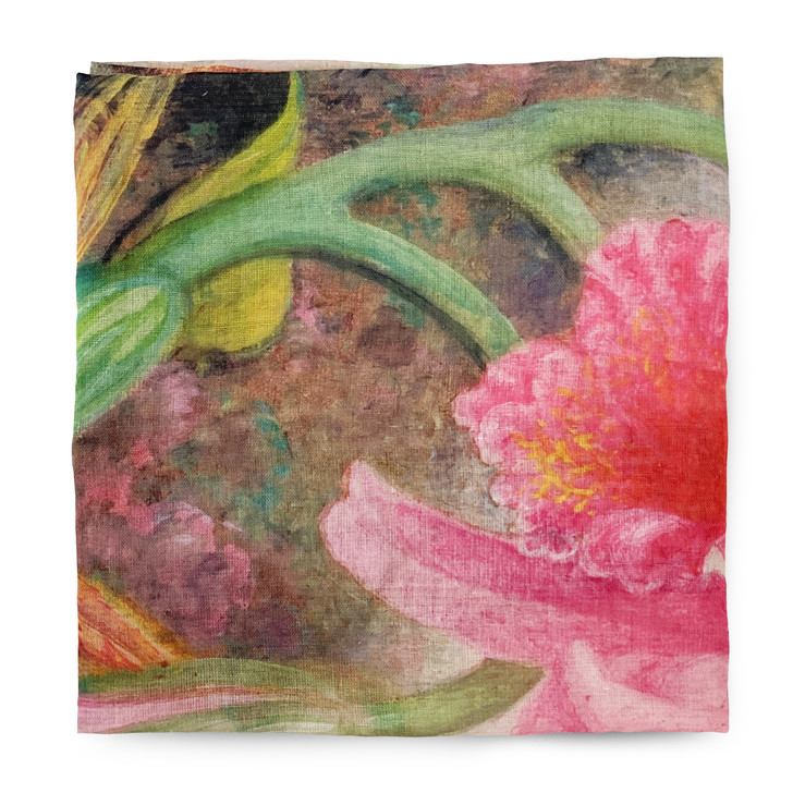 Hummingbirds and Orchids, Heade Poly Scarf