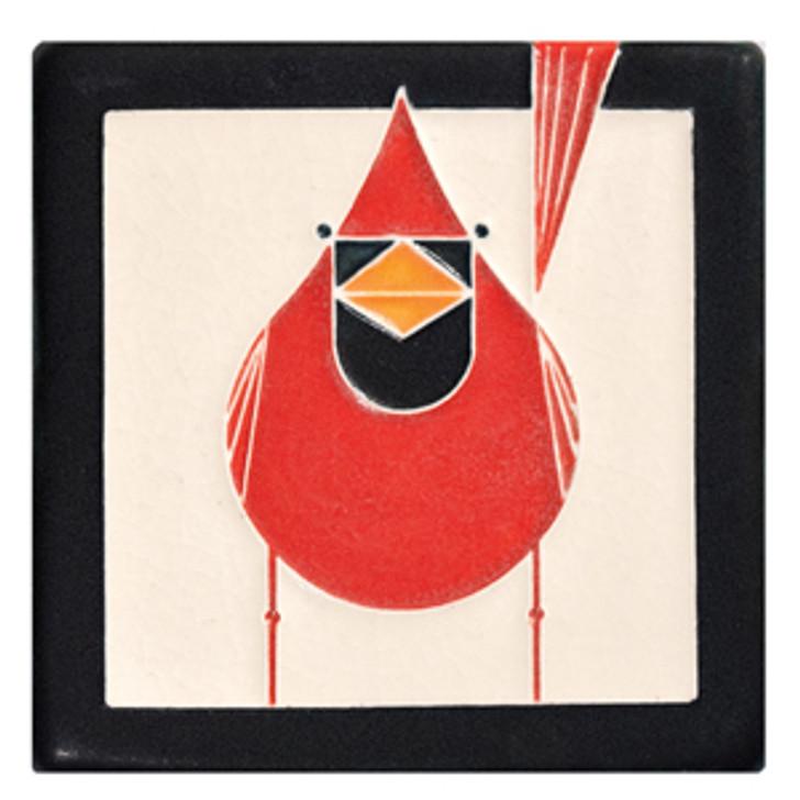 Motawi Tileworks Charley Harper Cardinal Tile 4x4