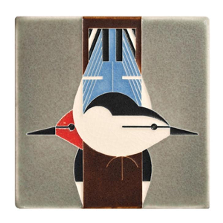 Motawi Tileworks Charley Harper Birds Upside Down Tile