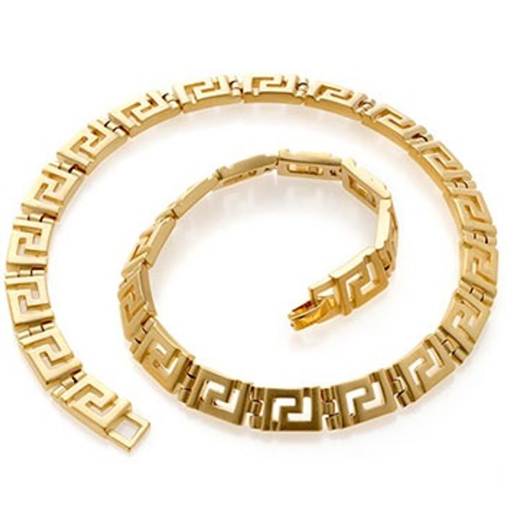 Classical Meander Link Necklace