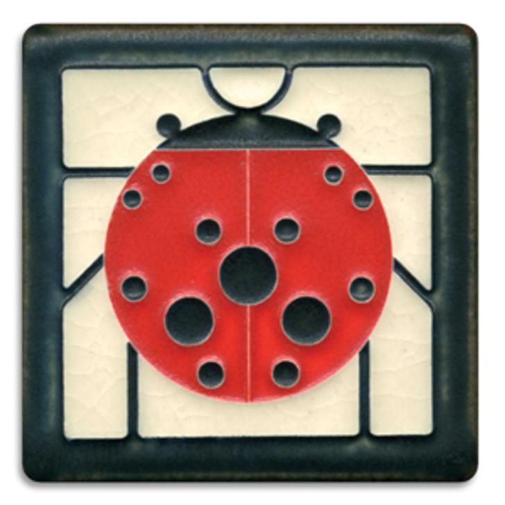 Motawi Tileworks Charley Harper Ladybug Tile