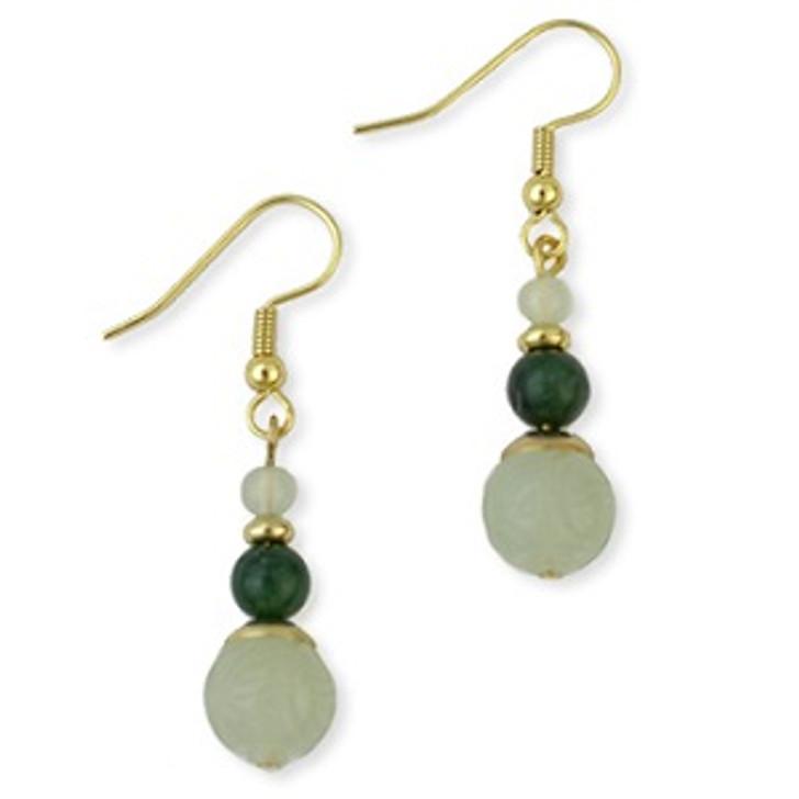 Jade Dragon Earrings