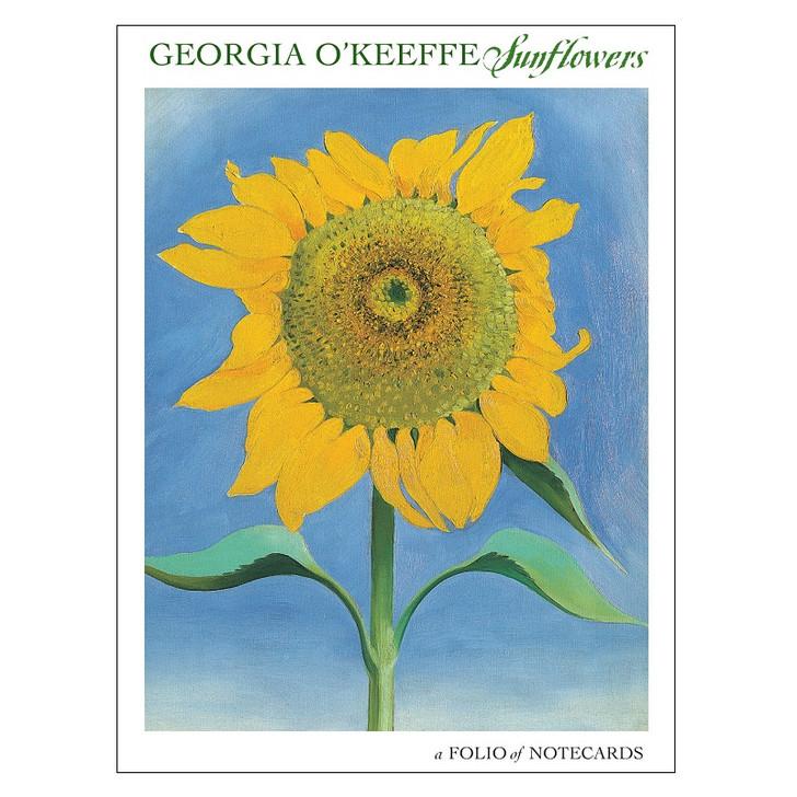 Georgia O'Keeffe Sunflowers Notecard Folio