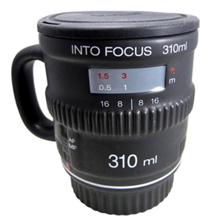 Into Focus Camera Lens Mug with Lid