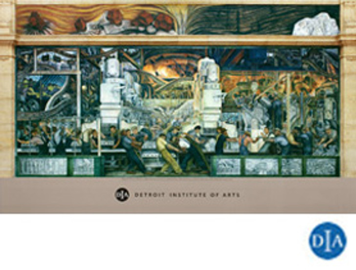 Diego Rivera Detroit Industry Murals North Wall Detail Poster