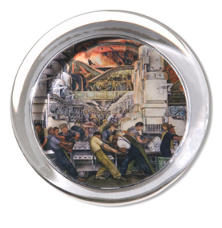 Diego Rivera Detroit Industry Murals North Wall Paperweight