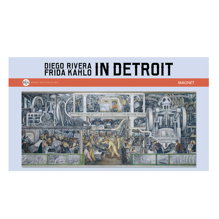 Diego Rivera Detroit Industry Murals South Wall Panorama Magnet