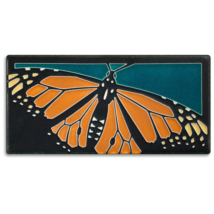 Motawi Tileworks Monarch Butterfly Tile Turquoise