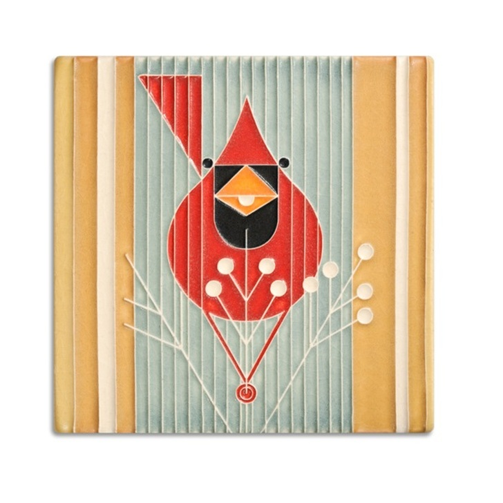 Motawi Tileworks Charley Harper Autumn Edibles Tile