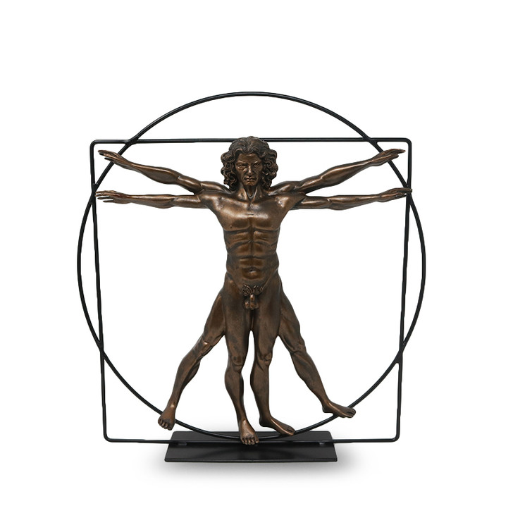 Vitruvian Man Sculpture - Leonardo DaVinci