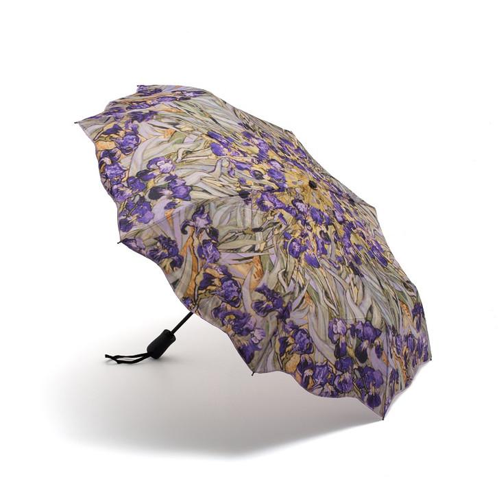 Van Gogh Irises Folding Umbrella