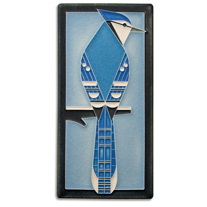 Motawi Tileworks Charley Harper Blue Jay Tile 4x8