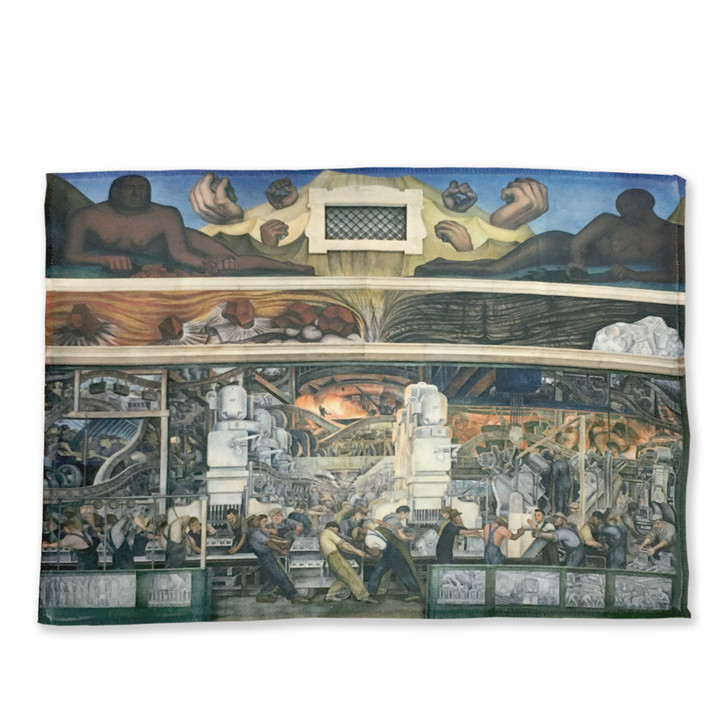 Detroit Industry Murals North Wall Microfiber Cloth