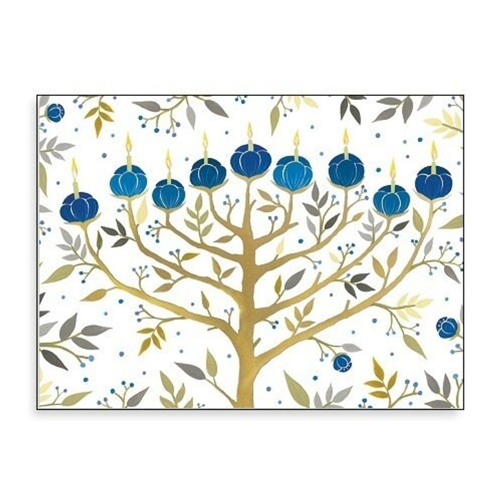Chanukah Tree of Lights Holiday Cards