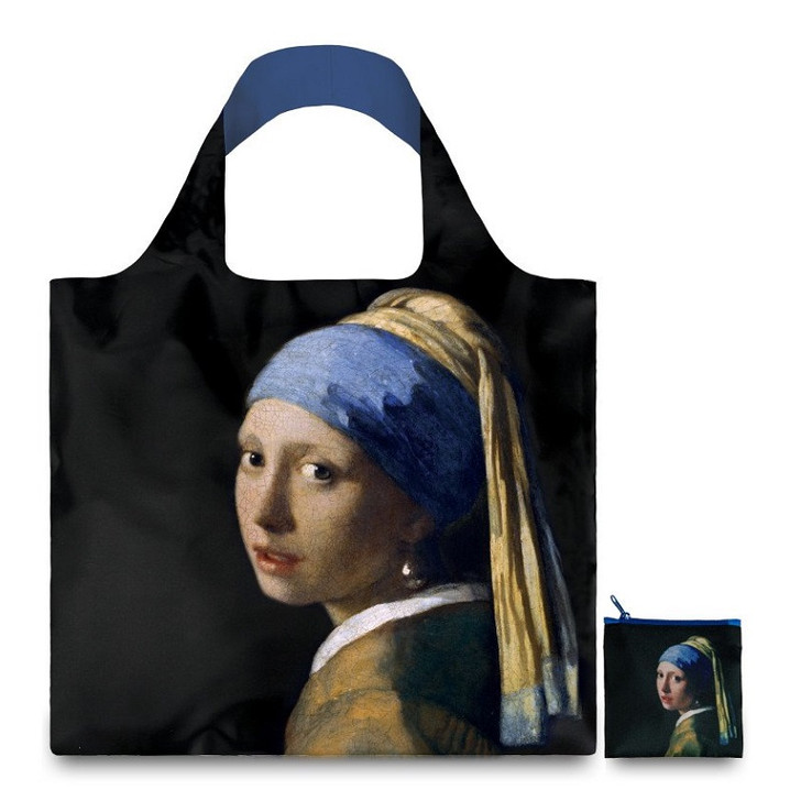Girl with a Pearl Earring, Vermeer Tote Bag with Pouch