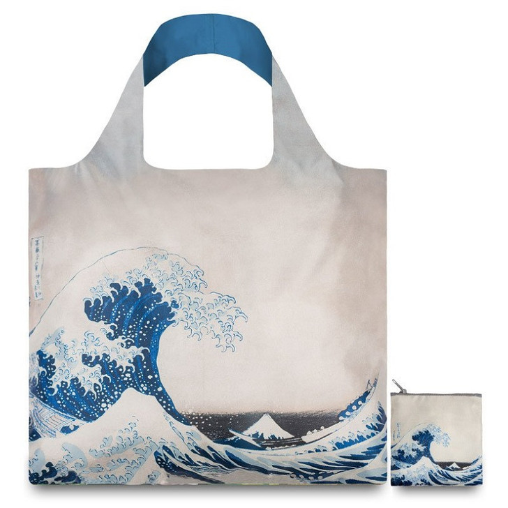 The Great Wave, Hokusai Tote Bag with Pouch