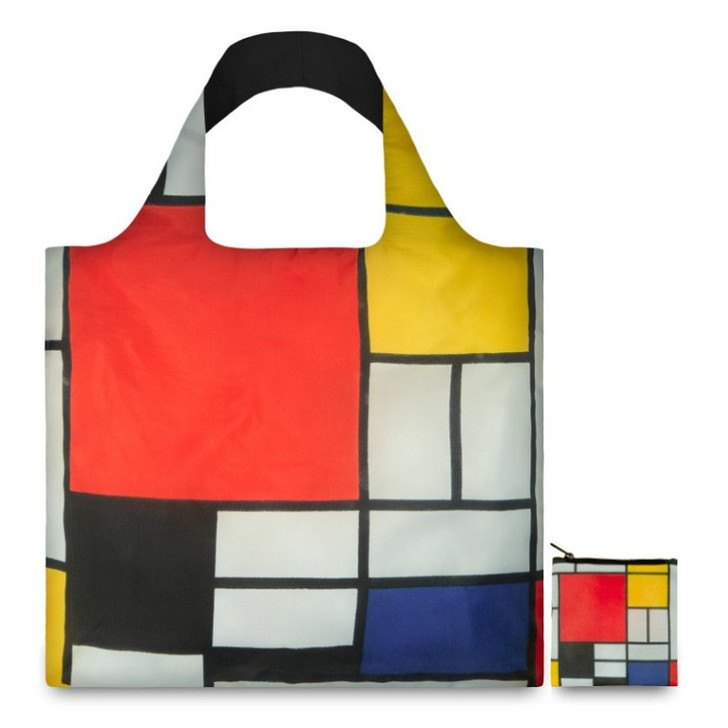 Composition with  Red, Yellow, Blue, and Black, Mondrian Tote Bag with Pouch