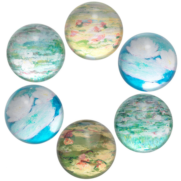 Monet Water Lilies Domed Magnets