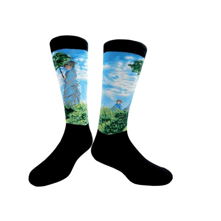 Woman with a Parasol, Monet Socks