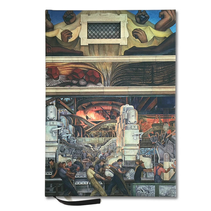 Diego Rivera Detroit Industry Murals North Wall Lined Journal