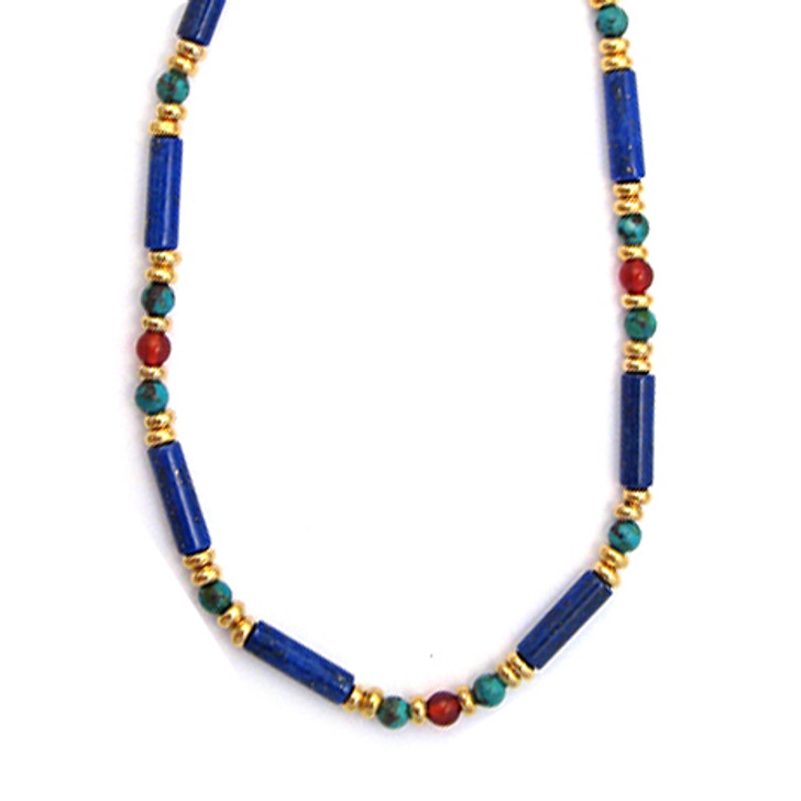 Egyptian Lapis & Turquoise Necklace