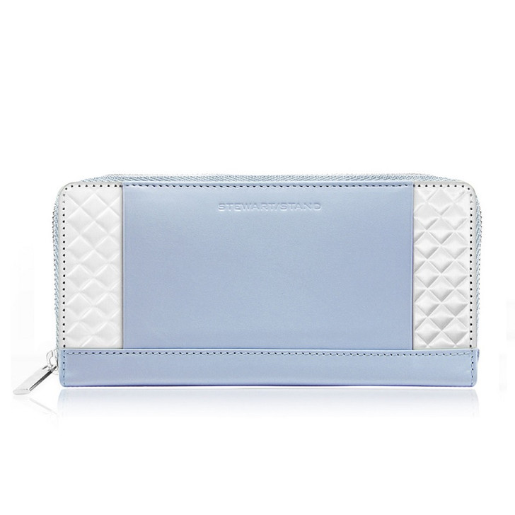 Zipper Quilted Clutch/Wallet Periwinkle