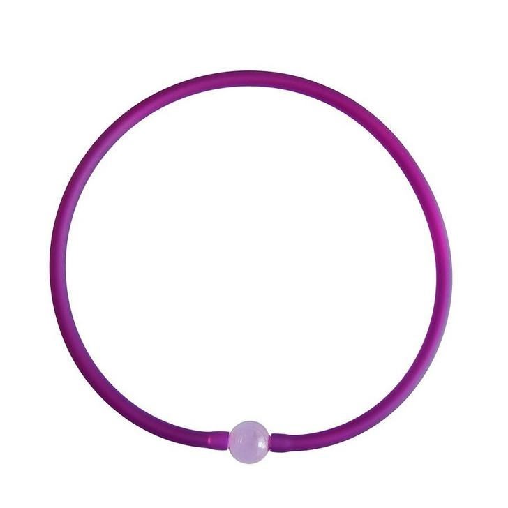 Tubino Necklace Purple/Rose Murano Glass Bead