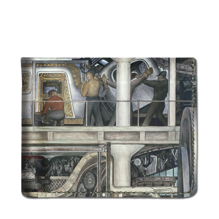 Diego Rivera Detroit Industry Leather Wallet South Wall