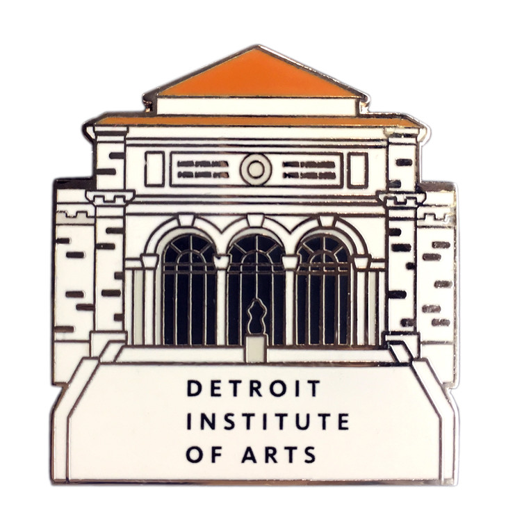 Detroit Institute of Arts Building Enamel Museum Pin Badge
