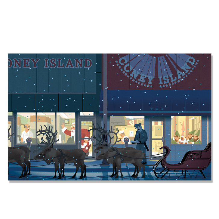 Detroit Coney Christmas Holiday Cards