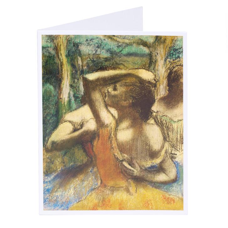 Edgar Degas Dancers Single Note Card