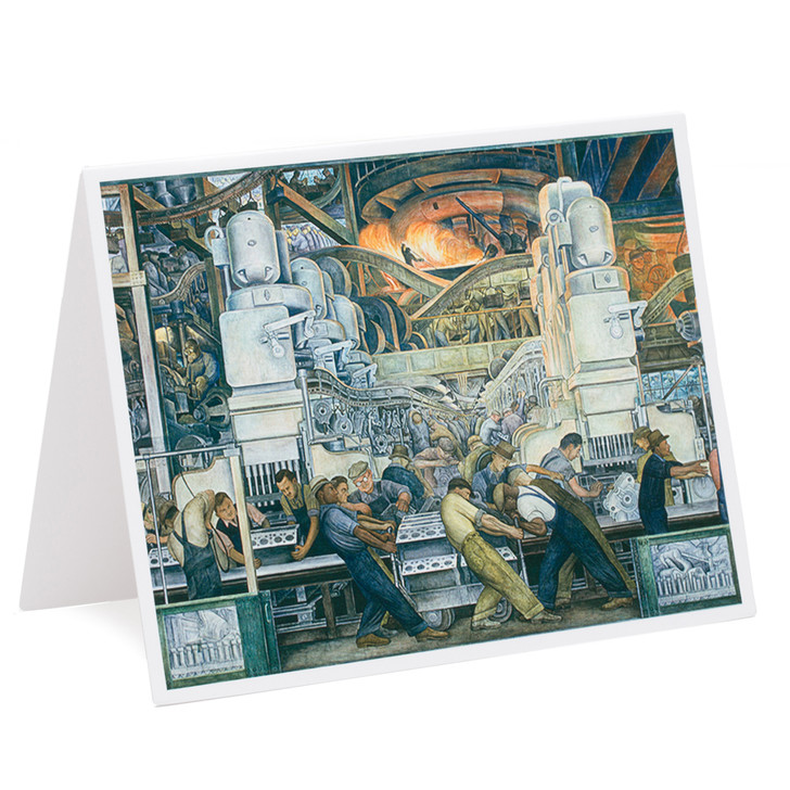 Diego Rivera Detroit Industry Murals North Wall Single Note Card