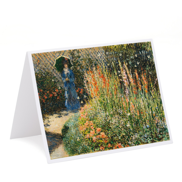 Claude Monet Rounded Flower Bed (Corbeille de fleurs) Single Note Card