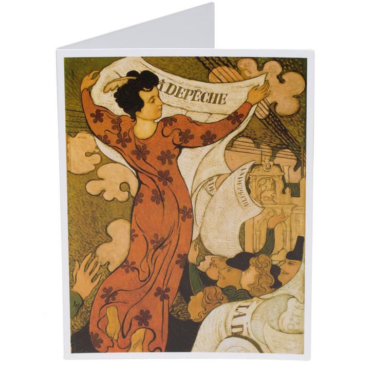 Maurice Denis La Depeche de Toulouse Single Note Card