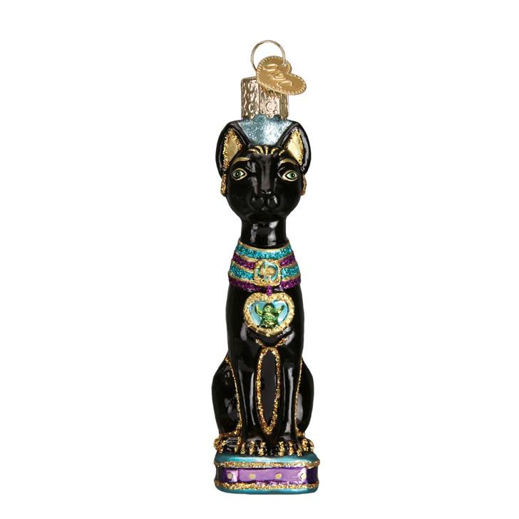 Egyptian Cat Glass Ornament