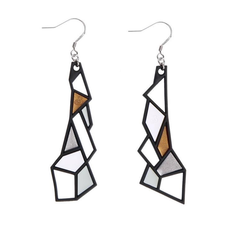 Prisms Earrings in Metallic