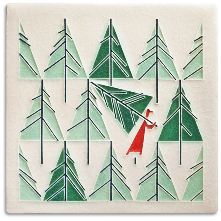 Motawi Tileworks Charley Harper Perfect Tree Tile 6x6