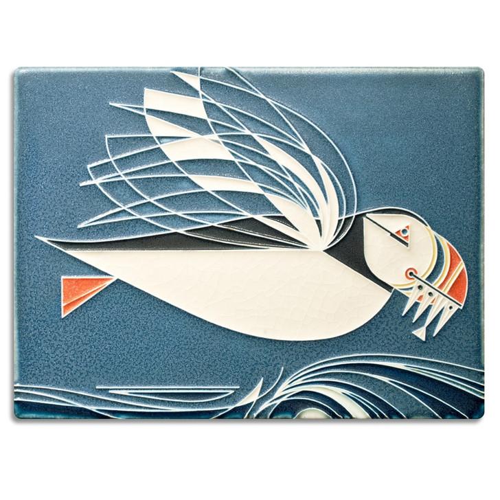 Motawi Tileworks Charley Harper Puffin Tile 6x8