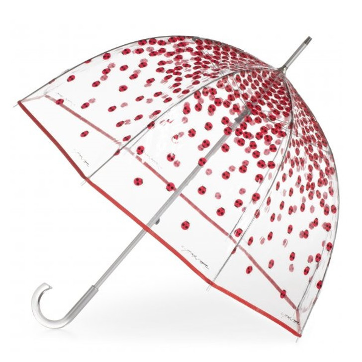 Charley Harper Lucky Ladybugs Full Sized Bubble Umbrella