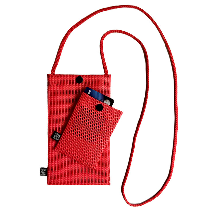 Hold the Phone Red Mesh Bag