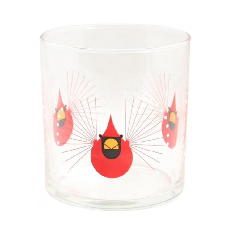 Charley Harper Cardinal Glass