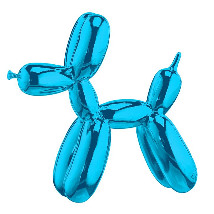Balloon Dog Art Sculpture Paperweight Blue
