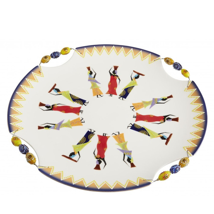 Ndebele Large Round Serving Bowl