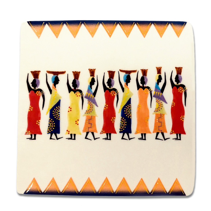 Ndebele Square Plate
