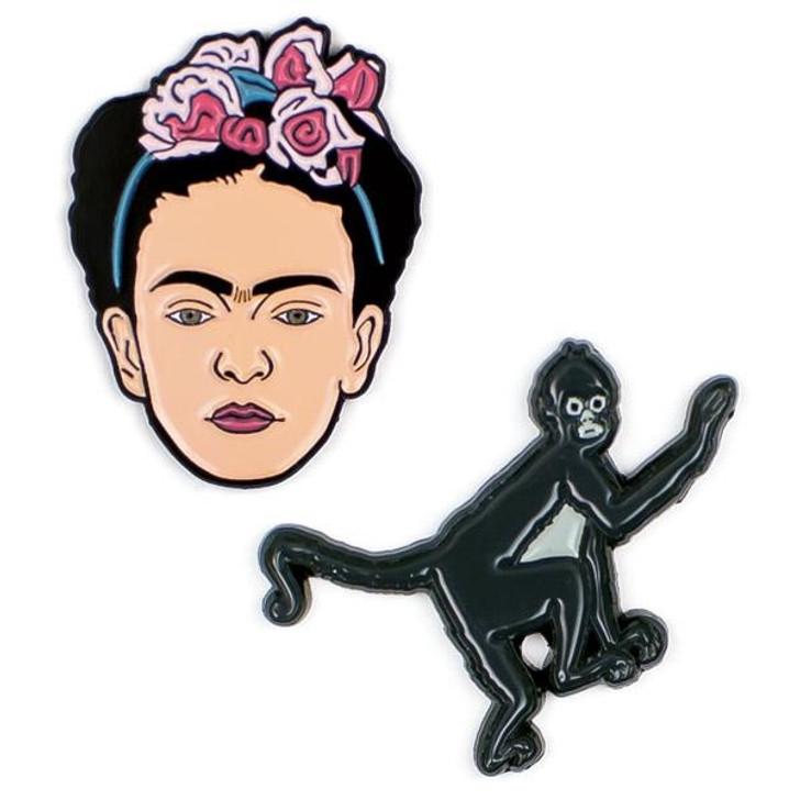 Frida Kahlo and Monkey Pins